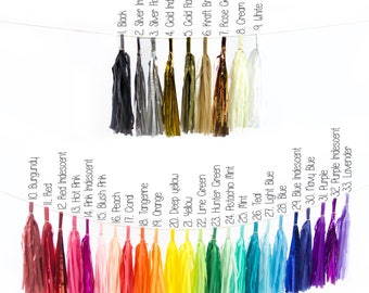 Tassels - You Choose Color and Quantity
