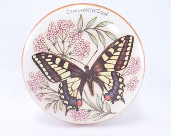 Mini Swallowtail Butterfly Tin Vintage 80s