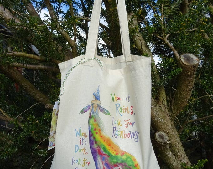 Featured listing image: Rainbow Maker with quote ~ Tote Bag