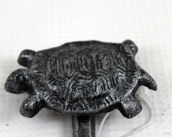 cast iron turtle hook silver/black home decor craft supply