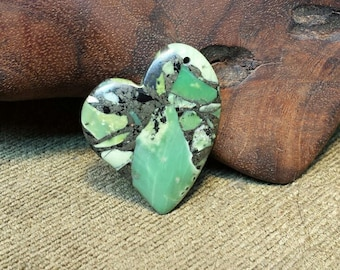 Sale #EarthDay ~ Green Turquoise  Pyrite Matrix Heart