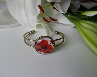Bronze poppy bracelet.
