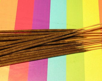 Almond  Hand Dipped Incense Sticks, 20 per pack