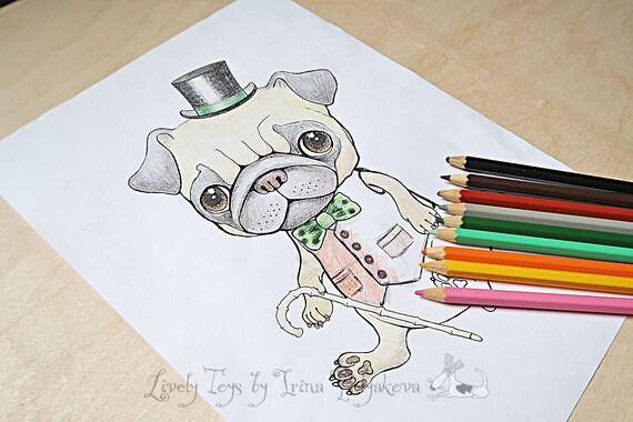 Jahr der Hund Erwachsenen Färbung Seite Kinder Färbung Buch