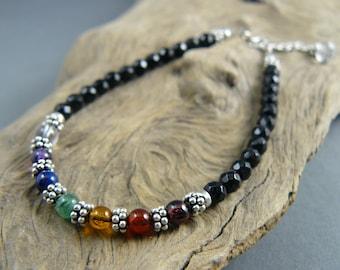 Chakra Bracelet, Chakra Bracelet Women, 7 Chakra Bracelet, Healing Crystal, Healing Bracelet, Yoga Jewelry, Energy Bracelet, Yoga Bracelet