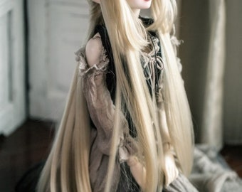 LuoShuShu : Goodness from the Moon *Wig Only silver and BLACK IN STOCK* 1/4 1/3 1/6 yosd msd mdd bjd doll
