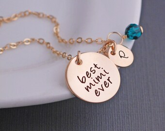 Mimi Jewelry, Custom Mother's Day Necklace for Mimi, Gold Personalized Necklace for Mimi for Mother's Day Gift