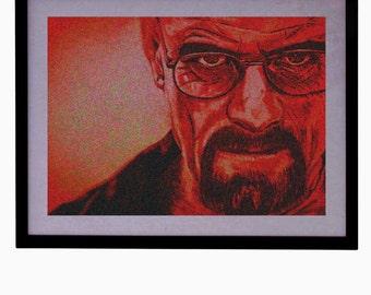 PRINTABLE Walter White Digital Art Breaking Bad Illustration Heisenberg Art Print Instant Digital Download Drawing