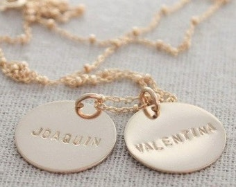 gold names necklace, 14k gold filled name tags, custom name pendants, kids names jewelry, mommy necklace, gift for her