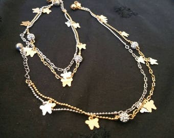 Gold & silver combination anklet(payal)