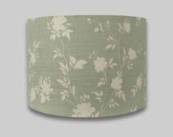 Green Floral Drum Lampshade Lamp Shade Lightshade 20cm 25cm 30cm 35cm 40cm 50cm 60cm and 70cm sizes available