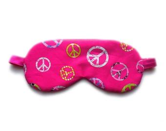 Organic Cotton Sleep Mask, Womens Blindfold, Eye Shade for Girls Kids Child Teen, Travel Gift for Her, Night Face Nap Baby Shower, Eyeshade