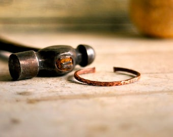 Copper Jewelry, Men Bracelet, Copper Bracelet, Bangle cuff, Copper cuff, Hammared copper, Textured copper, Jypsy, Metal bracelet, women cuff