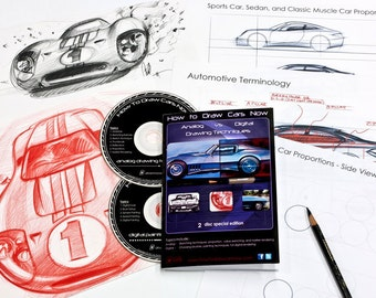 How to Draw Cars Now DVD set  and iPad disc - SALE