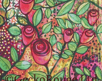 Cross Stitch Kit -  Spread The Love - Licensed Art By Kim Ellery - Made By Gecko Rouge
