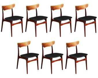 Up to Seven Rosewood Schønning & Elgaard Dining Chairs