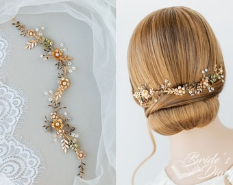 Wedding hair jewelery, bridal hairpiece, vintage bridal hair vine, hair hair accessories