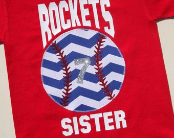Baseball Sister with Team Name: 2t - size 8