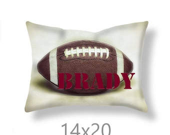 Football Pillow Cover-Custom Pillow Cover-Sofa Pillow Cover-Sports Decor-Linen Pillow Cover-Suede Pillow Cover-Personalized Pillow Case