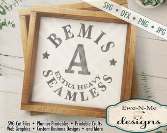 Bemis A Seamless Sewing Thread SVG Cut File - Digital svg, dxf, png and jpg files available