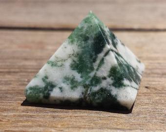 TREE AGATE natural small gemstone crystal pyramid 20-22