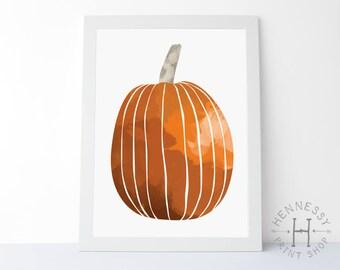 Fall Pumpkin Printable Art / Instant Download / Art Print / Autumn / Halloween / Seasonal Art / Fall Printable Art / Pumpkin Art