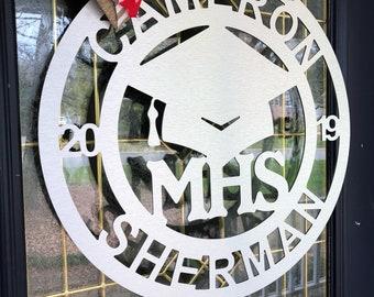 Made To Order / Customizable / Graduation / Metal / Door Hanger / Personalized / School Spirit /  Door Decoration / Party Decoration