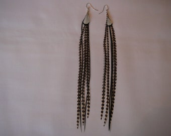 1      Grizzly Feather Earings Set ...........Accents to your Feather Hair Extension By The MyCollection2