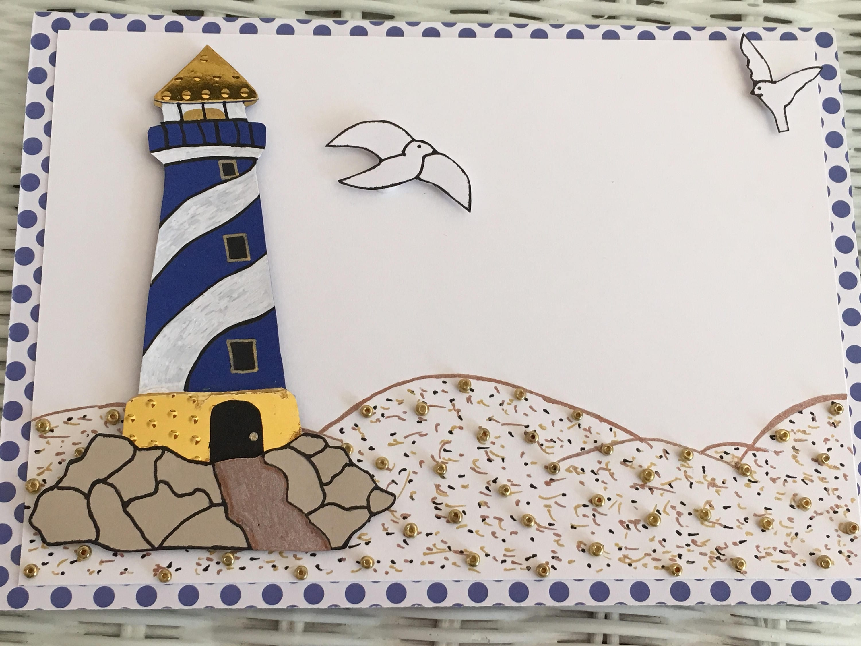 Handmade greeting card for him guys cards lighthouse cards zoom kristyandbryce Choice Image