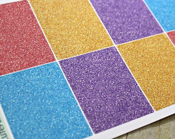 Planner Stickers - Glitter Full Box Planner stickers - Erin Condren Life Planner - Happy Planner - Spring Glitter Stickers - Easter Stickers
