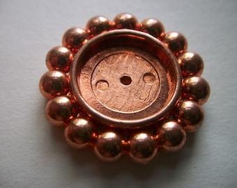 Copper Coated Plastic Round Setting  # N 1