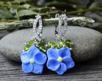 Forget Me Not Earrings, Forget Me Not, Forget Me Not Flowers, Forget Me Not Jewelry