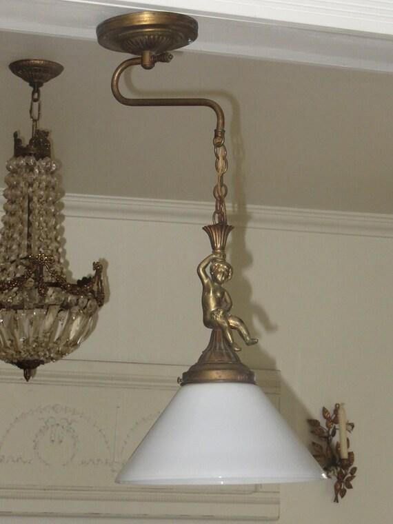 Rare 1910s cherub chandelier wall sconce vintage aloadofball Images