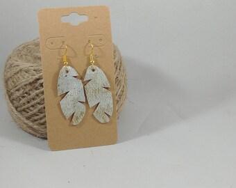 Handmade Leather Earrings - Small - Repurposed Materials