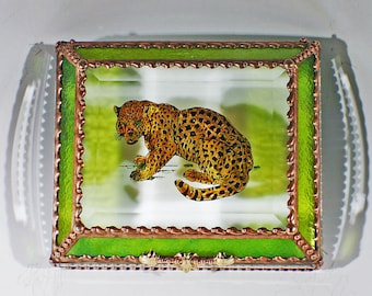 Leopard, Feline, Big Cat, Jewelry Box, Keepsake Box, African Wildlife