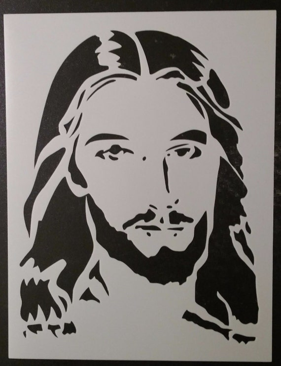 Jesus Christ Face Christmas Custom Stencil Fast Free Shipping