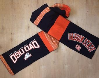TShirt Scarf, Upcycled, Oregon State University, OSU Dad, Go Beavers