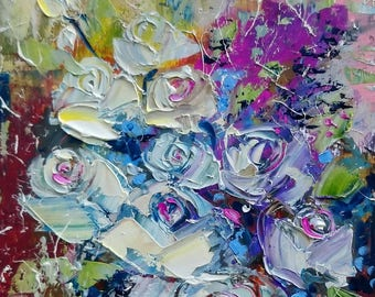 Roses for you; original oil painting