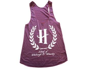 Racerback Tank - HP l'école fierté féminine inspiré par HP - Made in USA par So Cute Effing