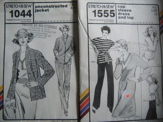 VINTAGE ANN PERSON Strecken & Muster zu nähen... Unconstructed Jacke ...