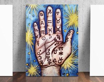 Palmistry Stars Art Print
