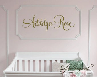 Nursery Wall Decals. Personalized name wall decal for boys and girls rooms. Custom name decal made in any colors and size you want.1020