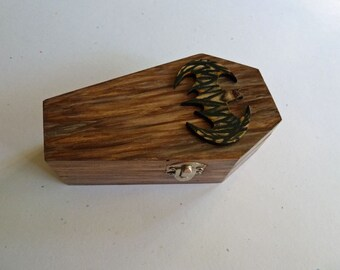 Coffin ring box, Hand painted coffin box, Wooden coffin, Til death do us part, Vampire coffin