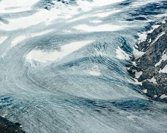 Glacier   Blue Cyan Cold Ice Flow   Zermatt Matterhorn Fine Art Photography polychromatophil   Mountain Landscape Alps Stone Rocks