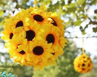 Sunflower Kissing Ball