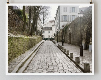 """Paris Photography, """"Rue des Saules"""" Paris Print, Large Art Print Fine Art Photography"""