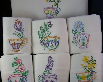 Tea Cups with Flowers