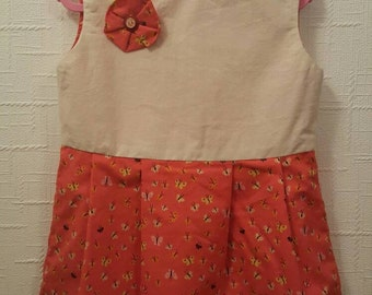 Dress Handmade Girls Size 3 100% Cotton **SALE**