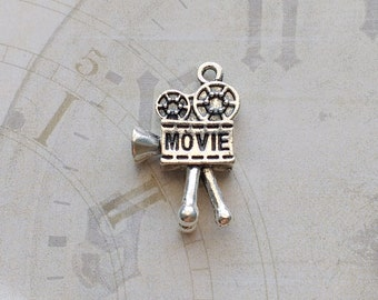 5 Movie Projector Charms Silver - CS2978