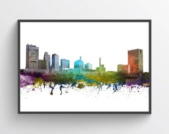 Toledo Poster, Toledo Skyline, Toledo Cityscape, Toledo Print, Toledo Art, Toledo Decor, Home Decor, Gift Idea, USOHTO01P